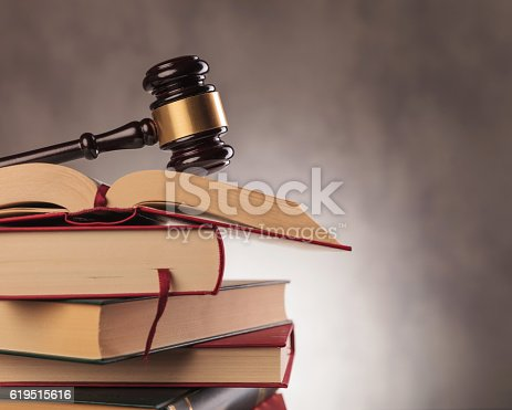istock judge's gavel on top  of books with copyspace 619515616