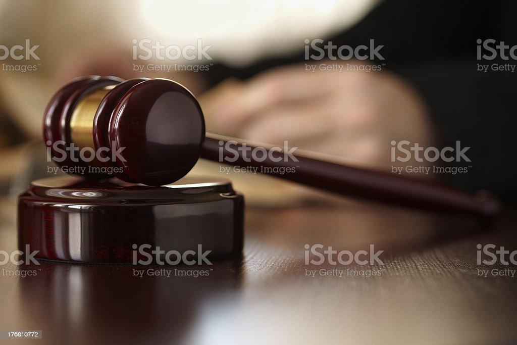Judges Gavel royalty-free stock photo