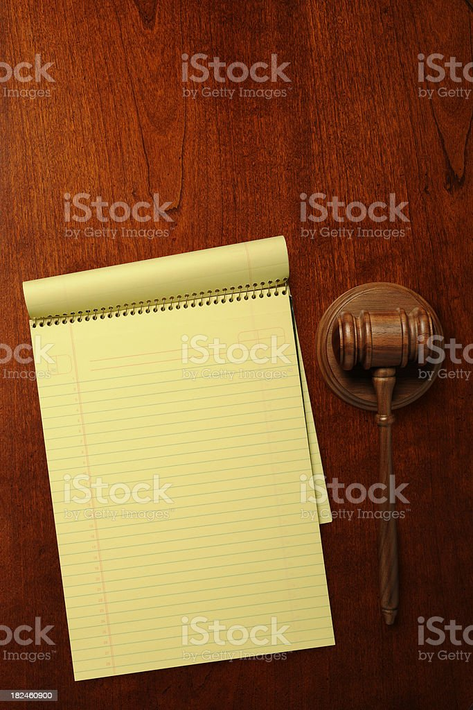 Judges Orders royalty-free stock photo
