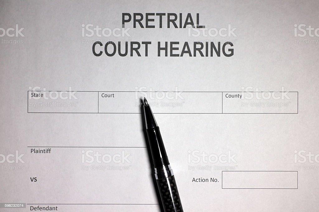 Judical Pre-trial foto royalty-free