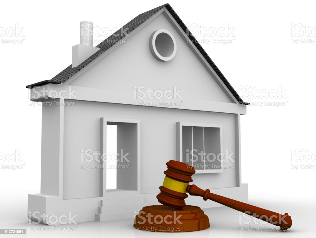 Judicial practice in real estate royalty-free stock photo