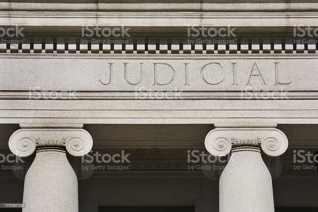 Judicial Standing stock photo