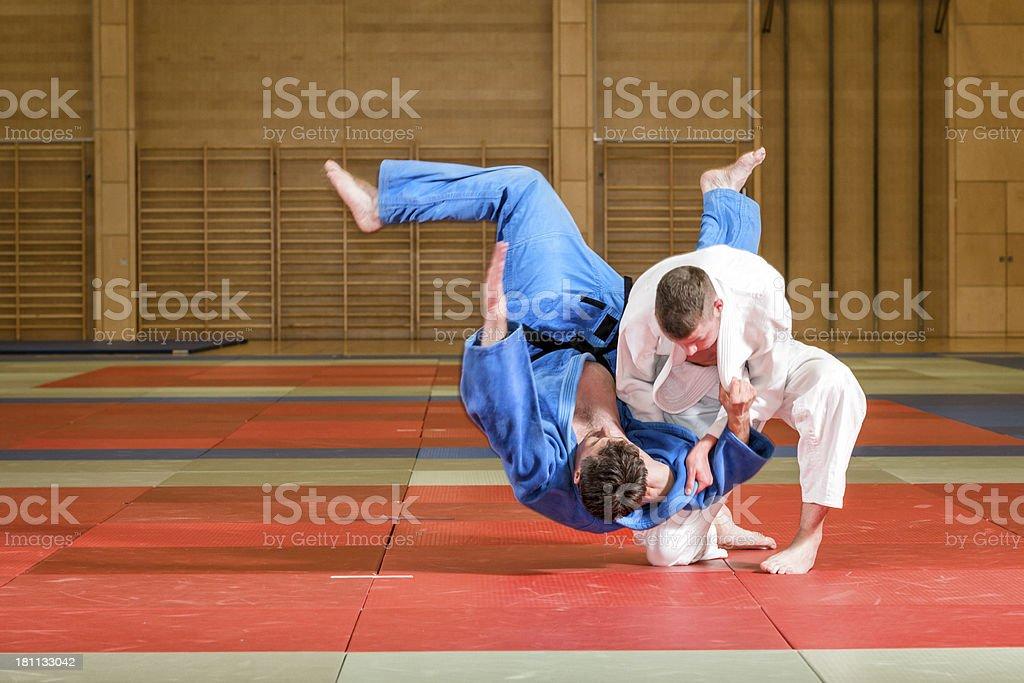 judo fight stock photo