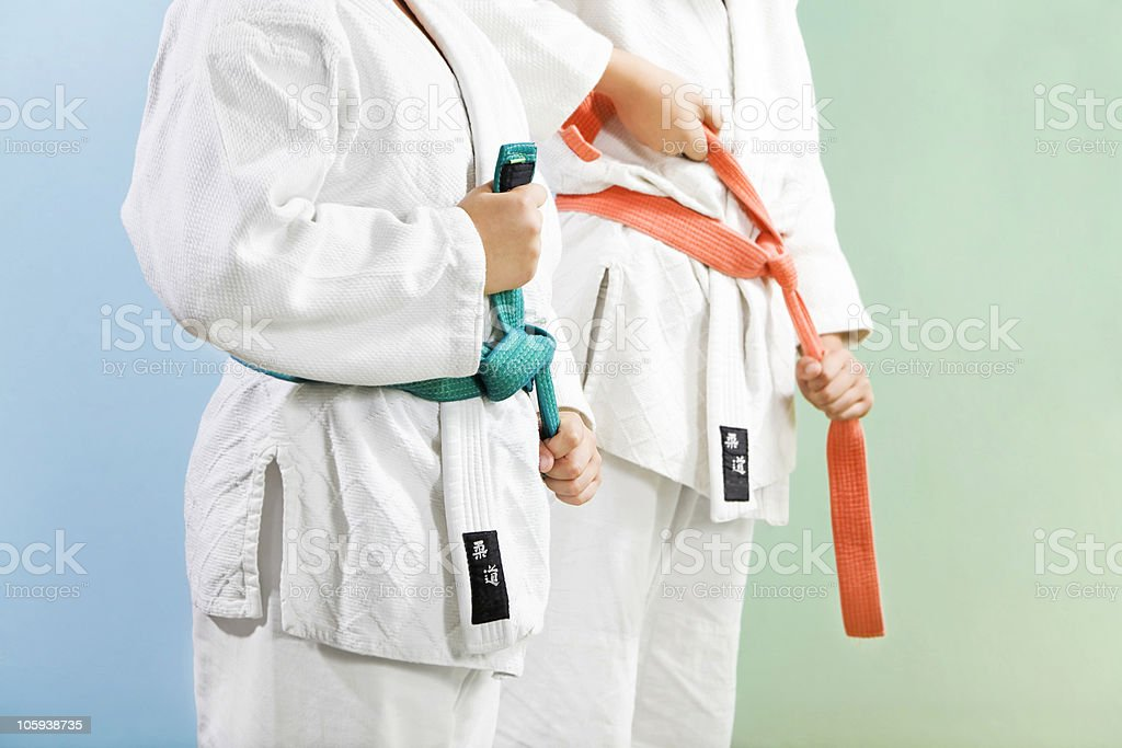 judo - Lizenzfrei 10-11 Jahre Stock-Foto