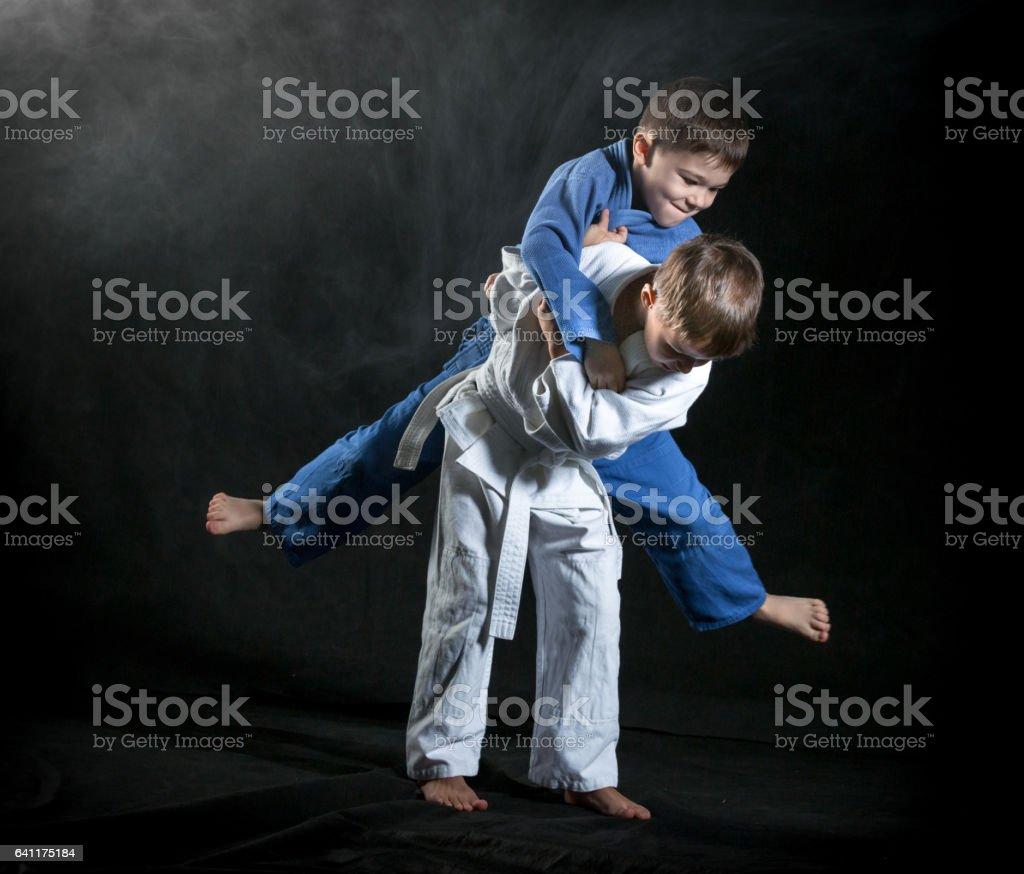Judo Throws stock photo