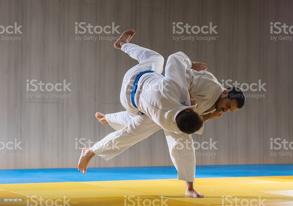 Judo training in the sports hall – Foto