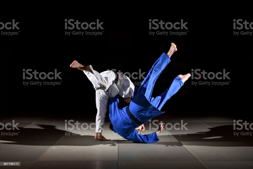 Judo training series stock photo
