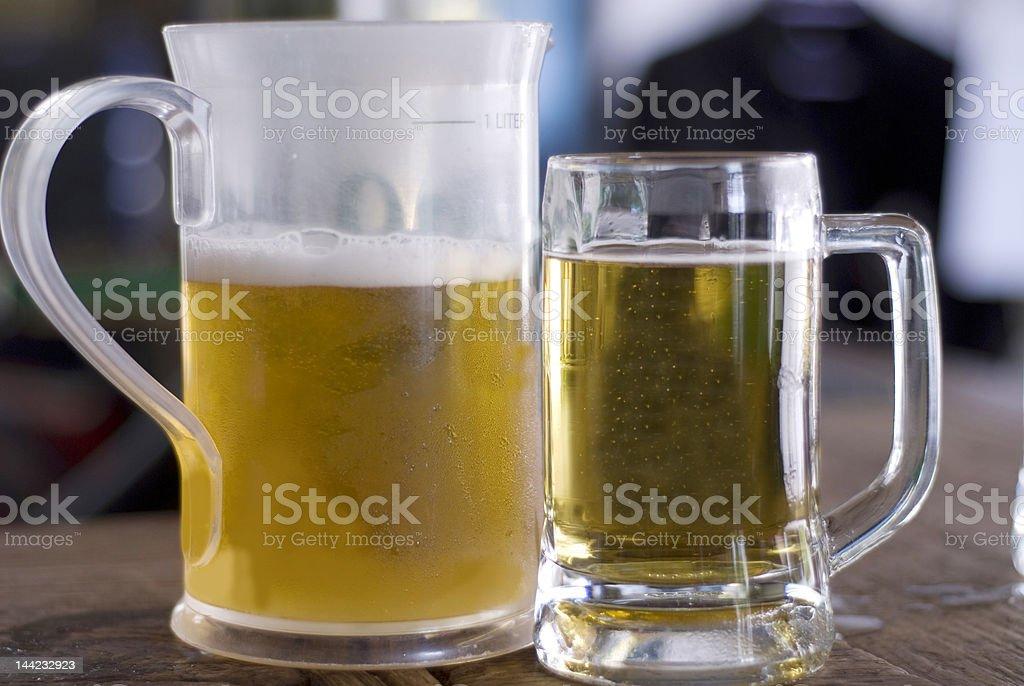 Jug and a mug stock photo