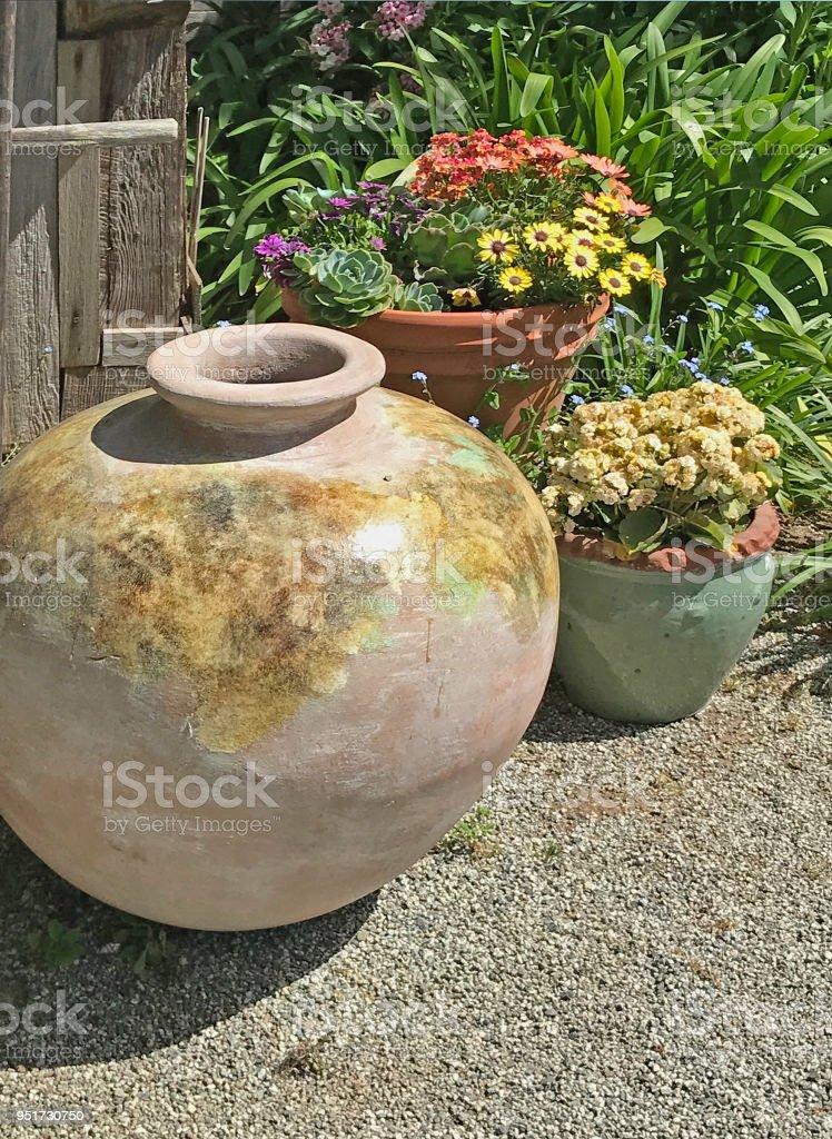 Jug and Pots stock photo