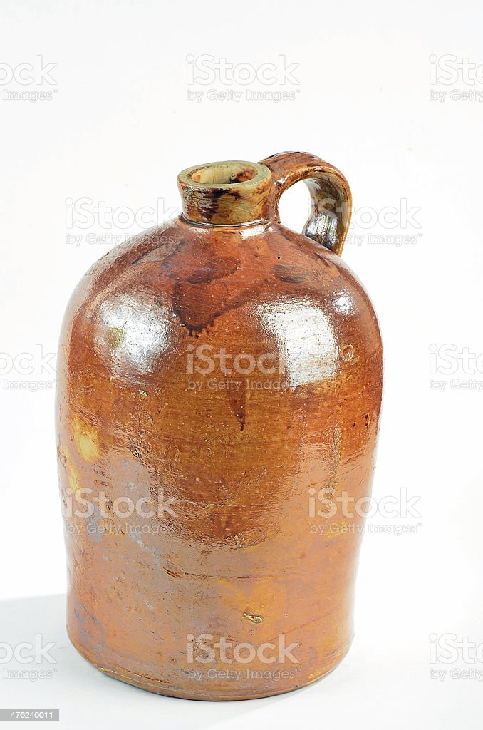 Jug of Corn Whiskey stock photo