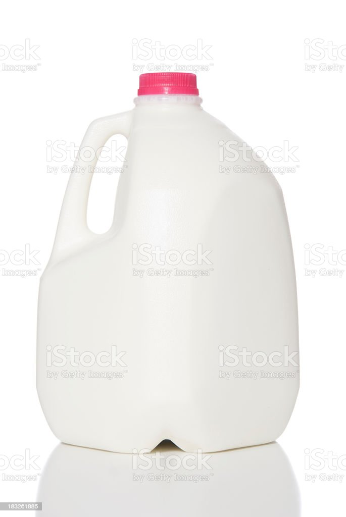 A jug of milk with without labels royalty-free stock photo