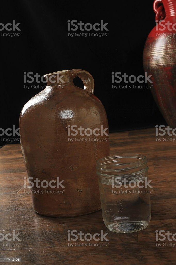 Jug of Moonshine Whiskey stock photo