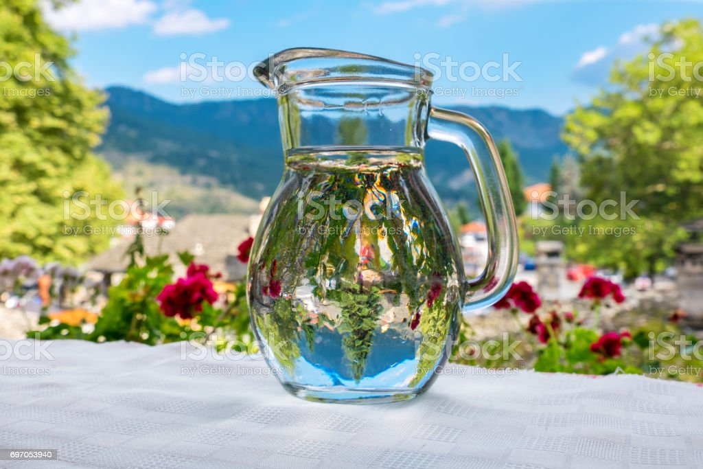 Jug of water. Greece stock photo