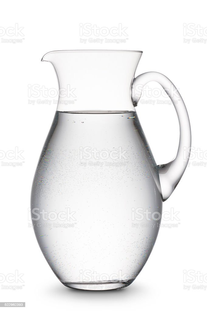 jug of water stock photo