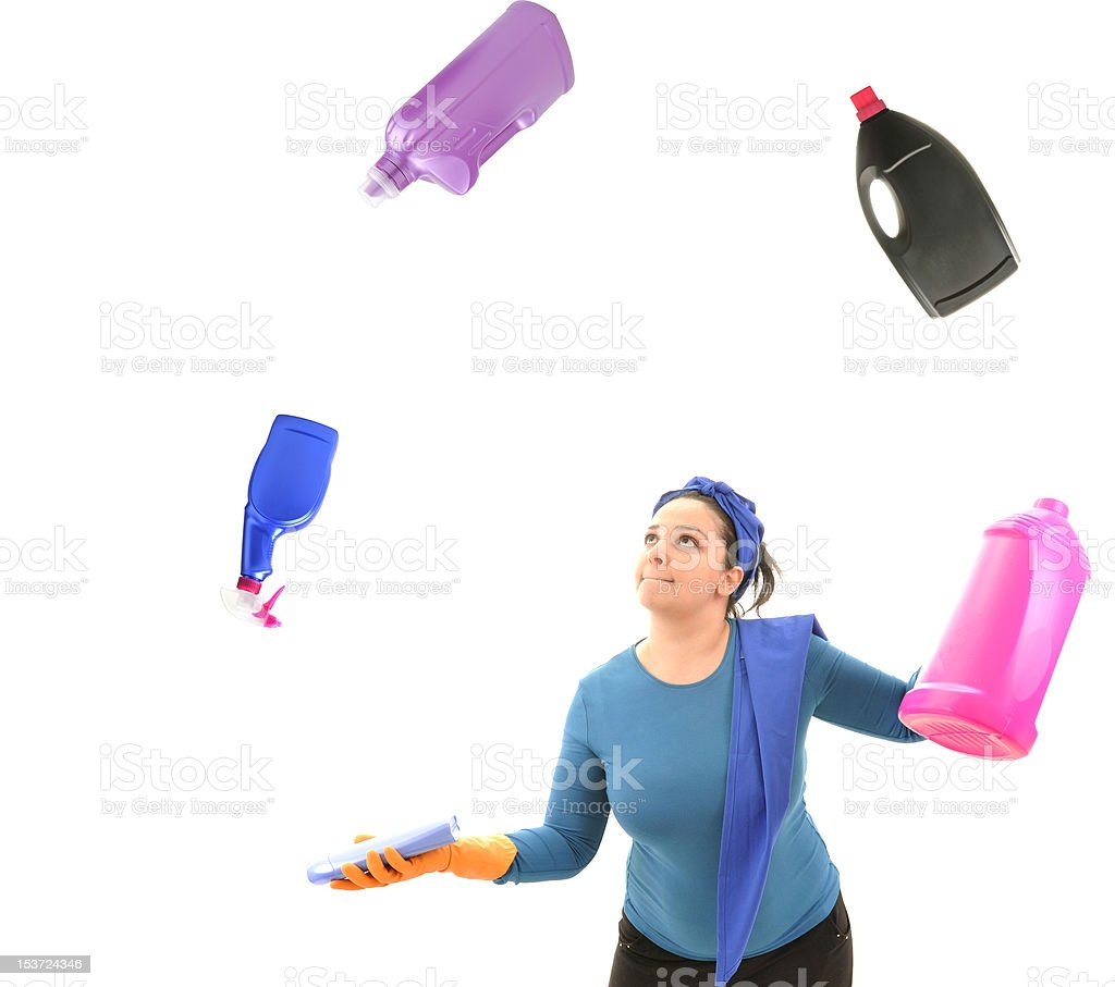 Juggler Housewife royalty-free stock photo