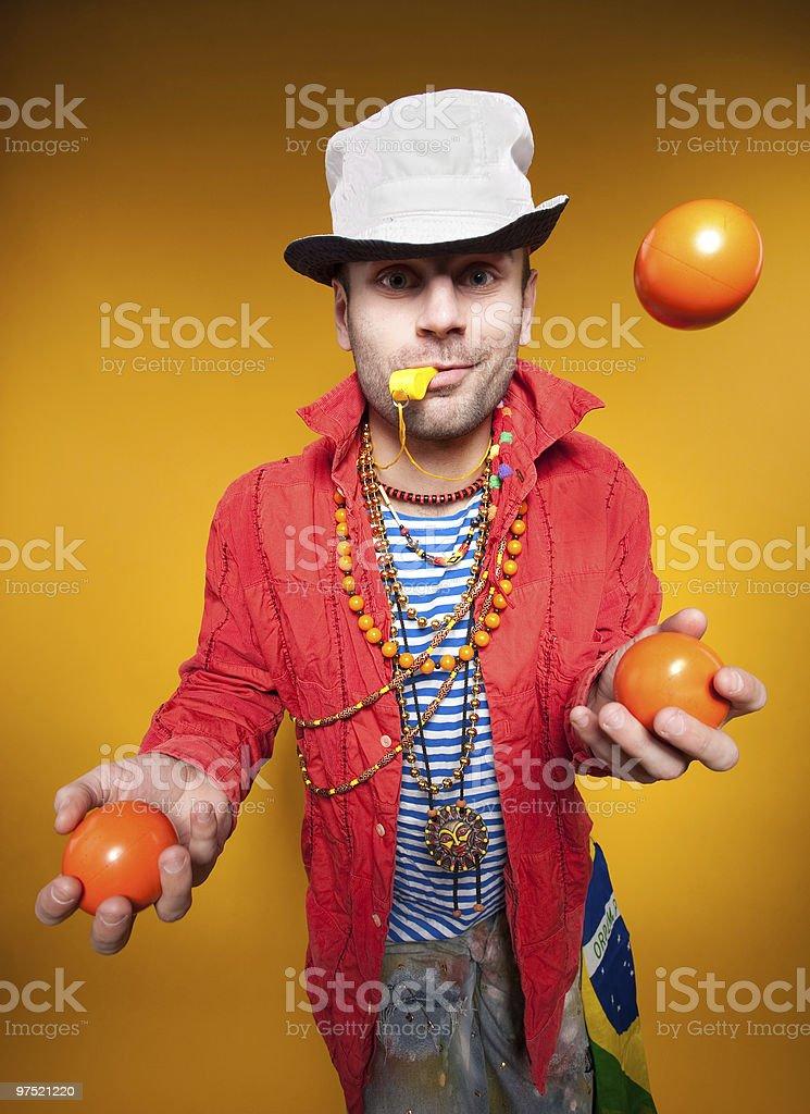Juggler performance royalty-free stock photo