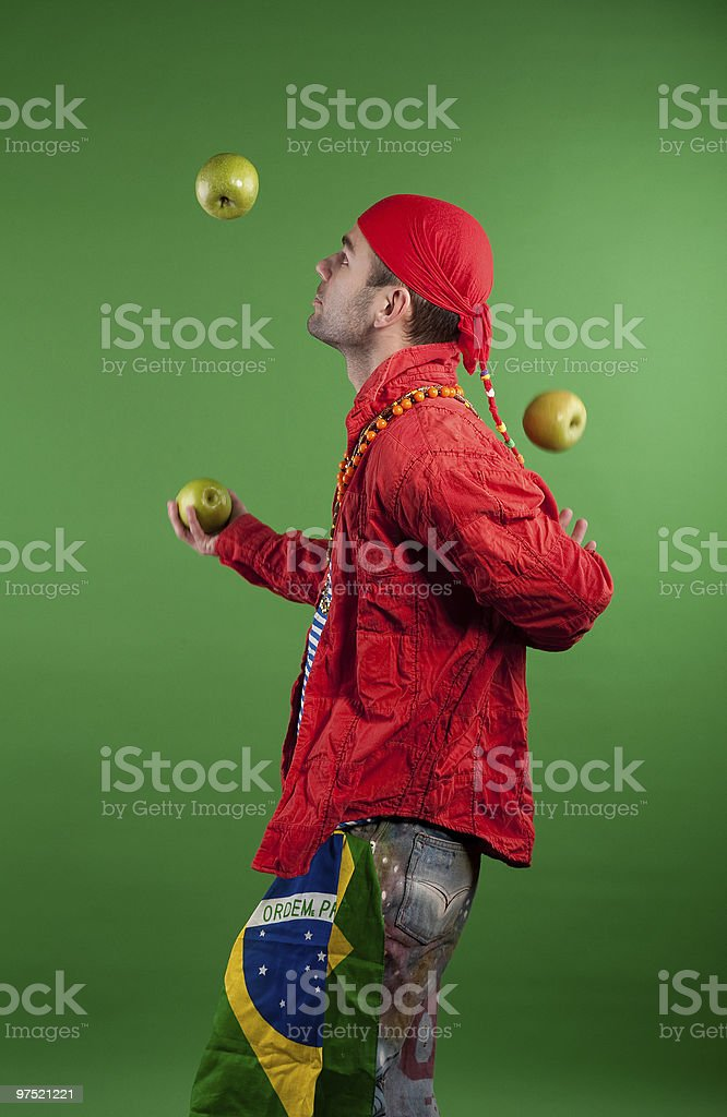 Juggler performance royalty-free stock photo