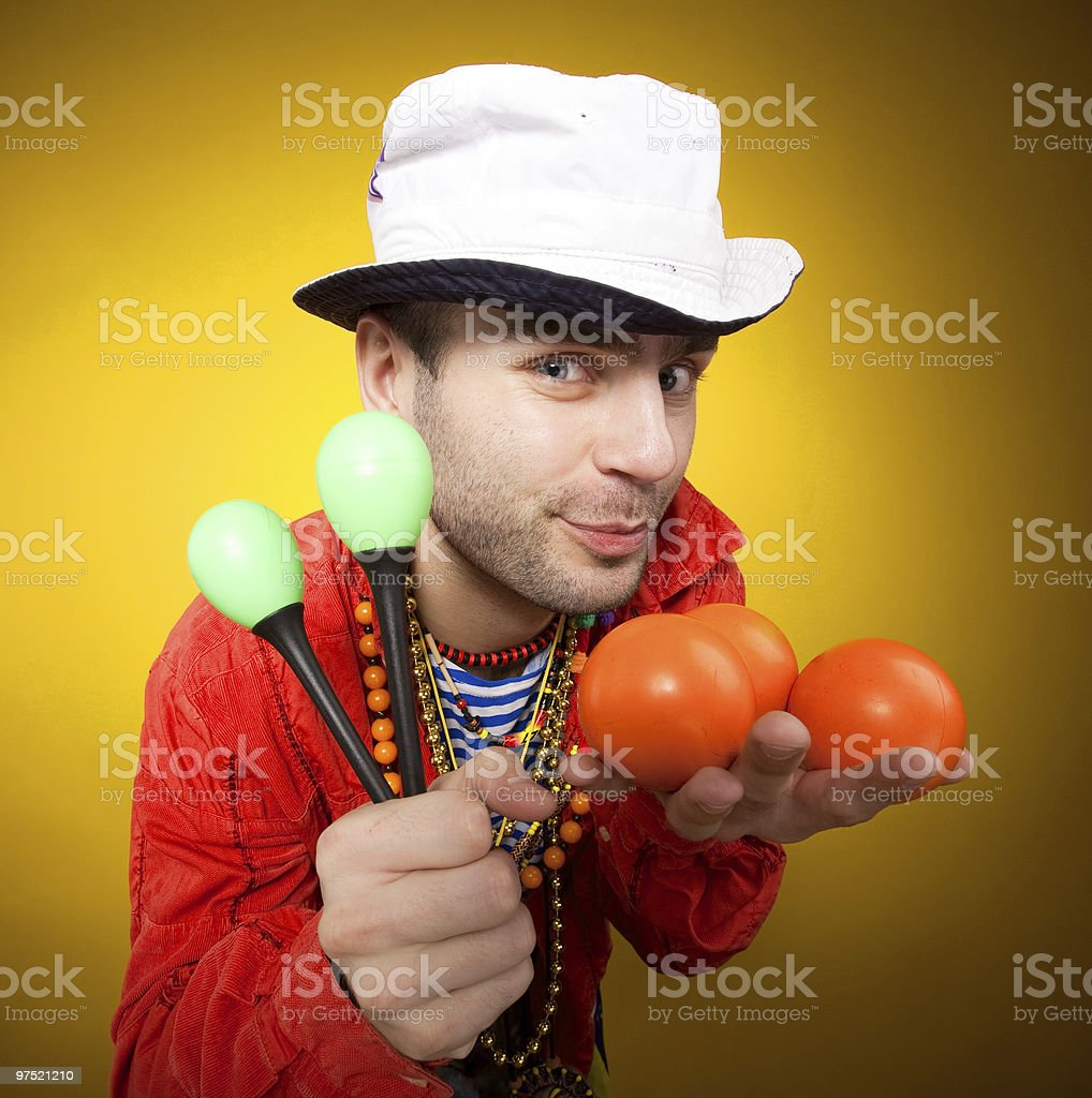 Juggler performer royalty-free stock photo