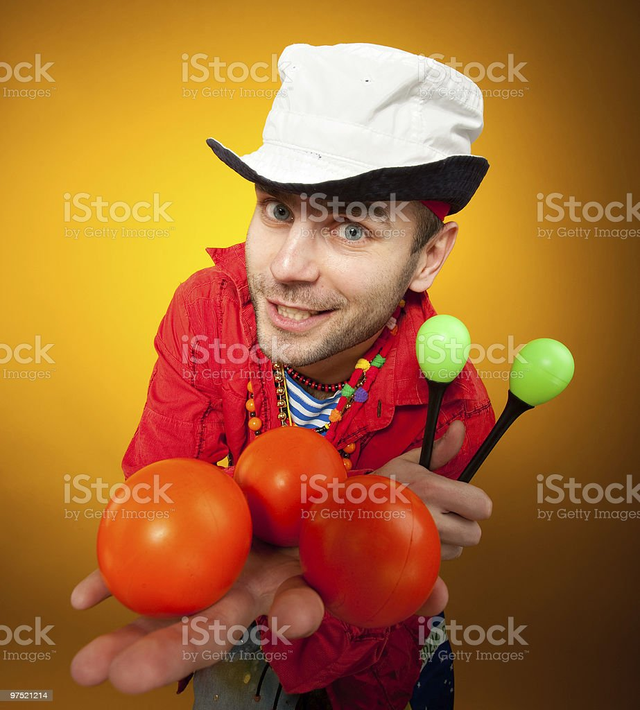 Juggler performer royalty-free stock photo