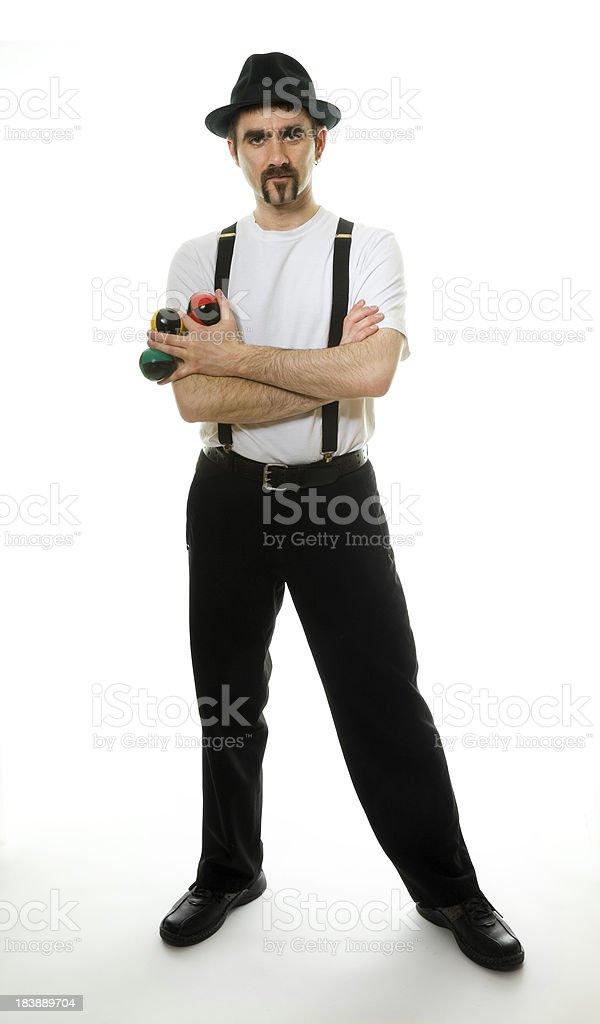 Juggler standing stock photo