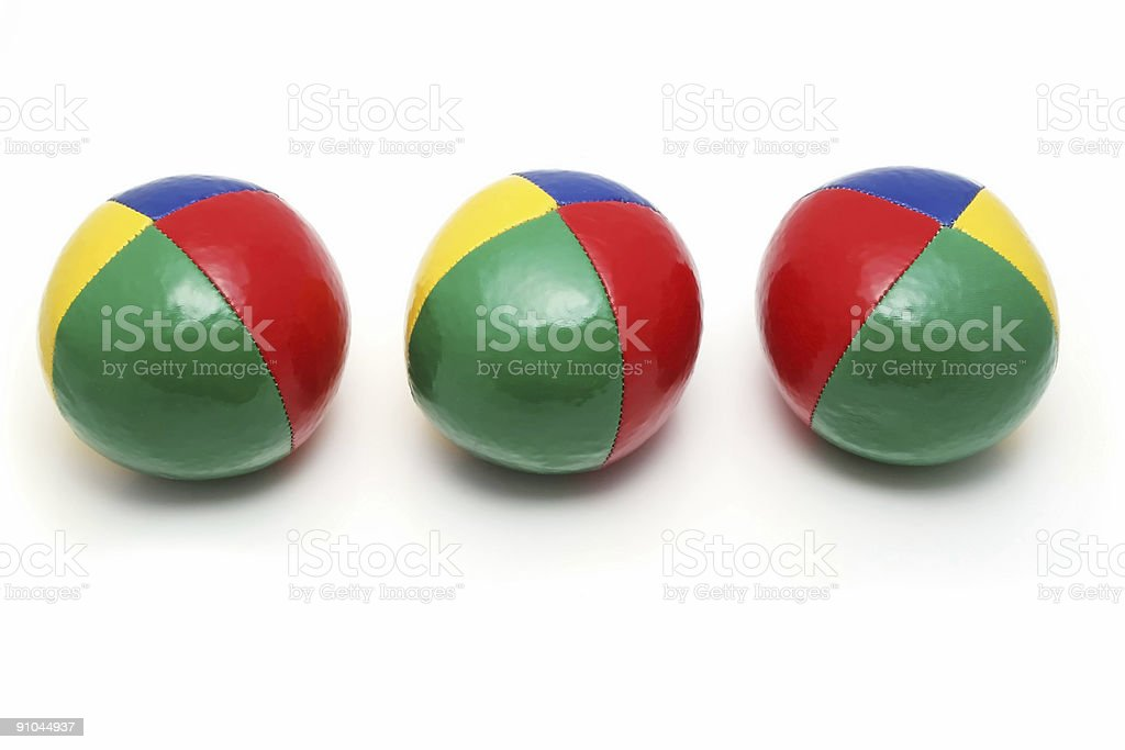 Juggler's balls royalty-free stock photo