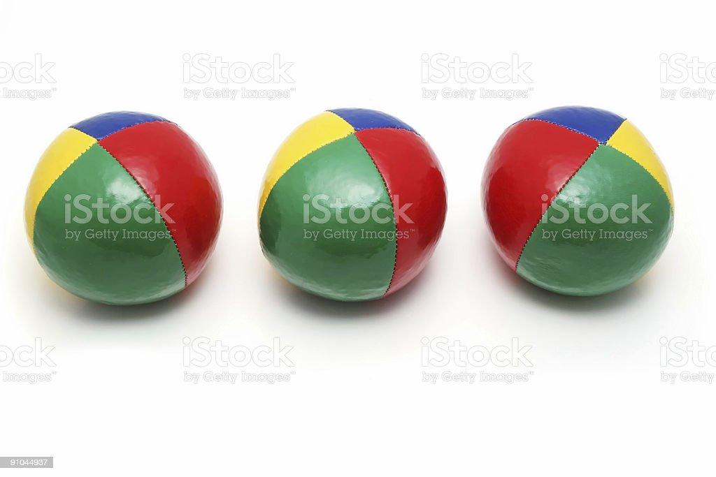 Juggler's balls stock photo