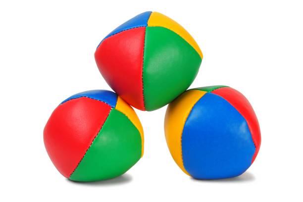 Juggling balls stock photo