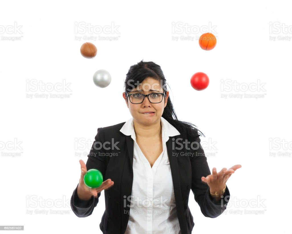 Juggling Business Issues stock photo