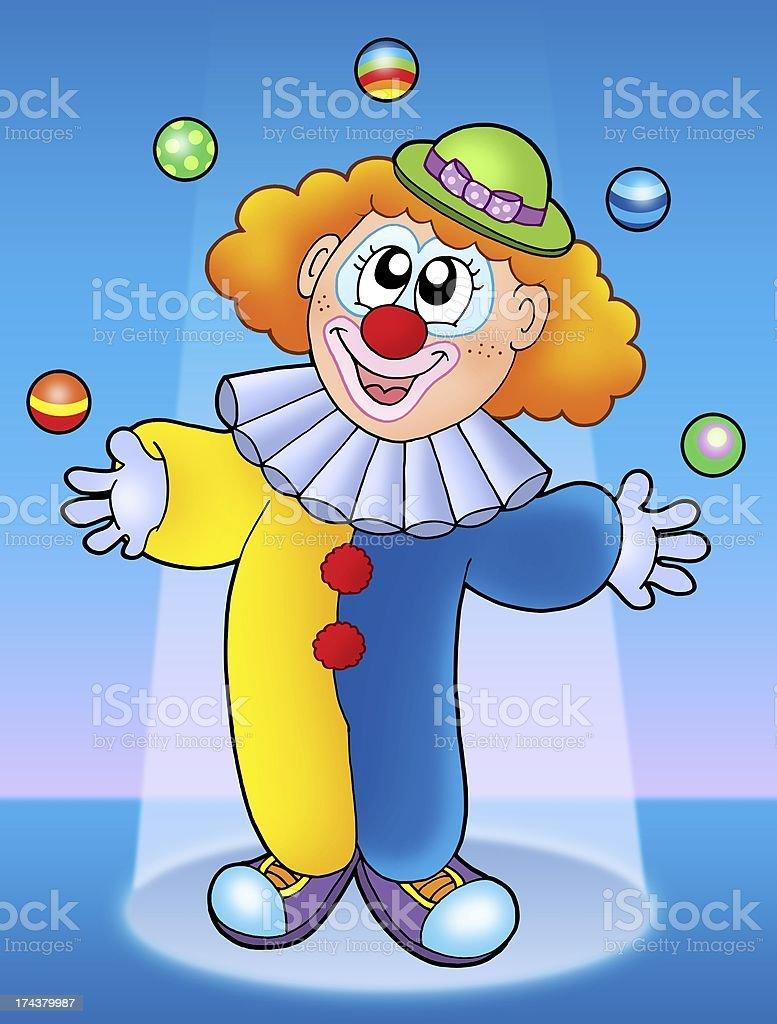 Juggling clown royalty-free stock photo