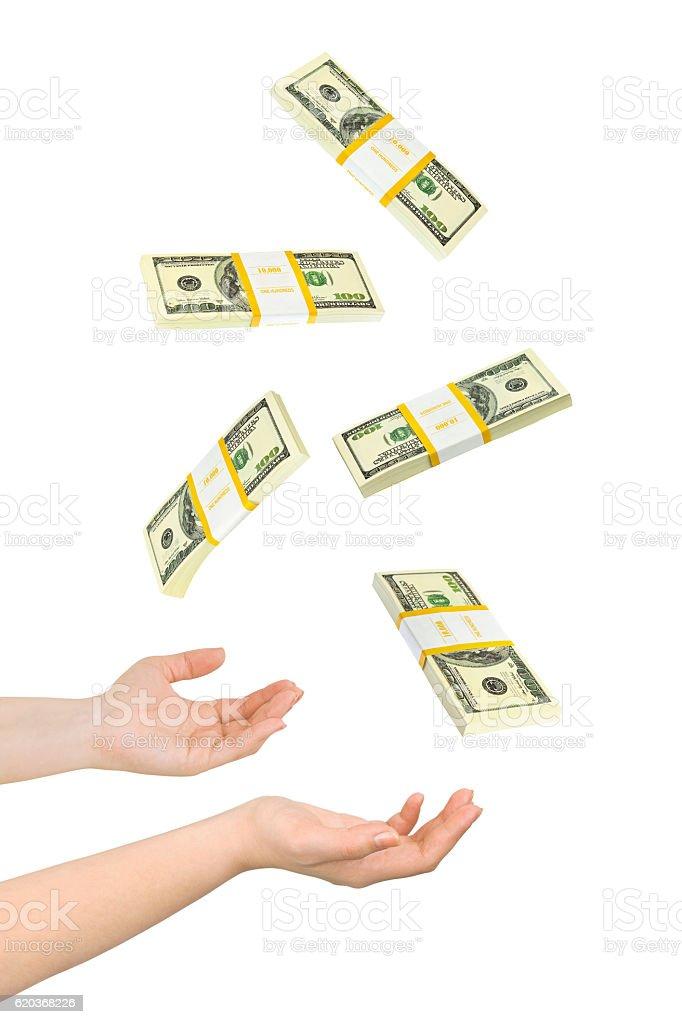Juggling hands and money zbiór zdjęć royalty-free