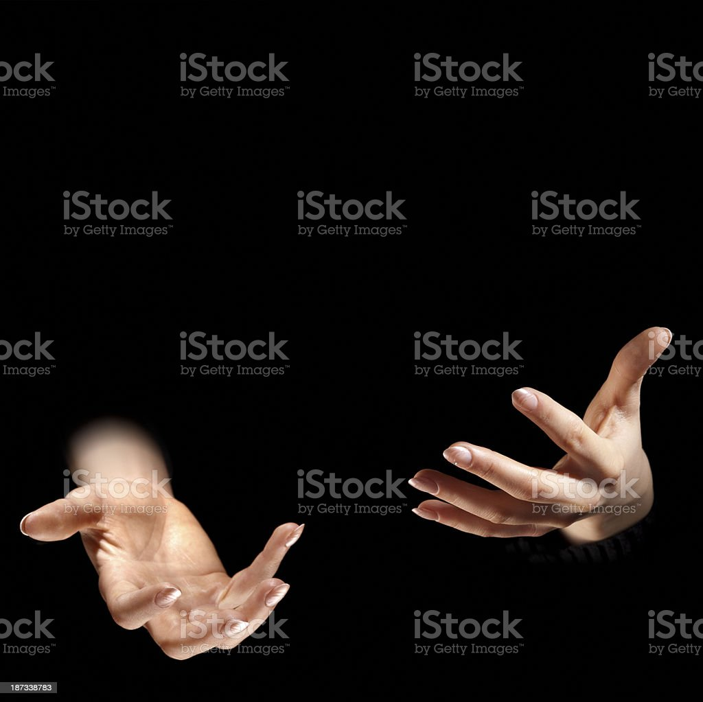 Juggling Hands stock photo