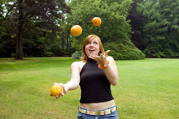 Jonglieren Orangen 2 – Foto