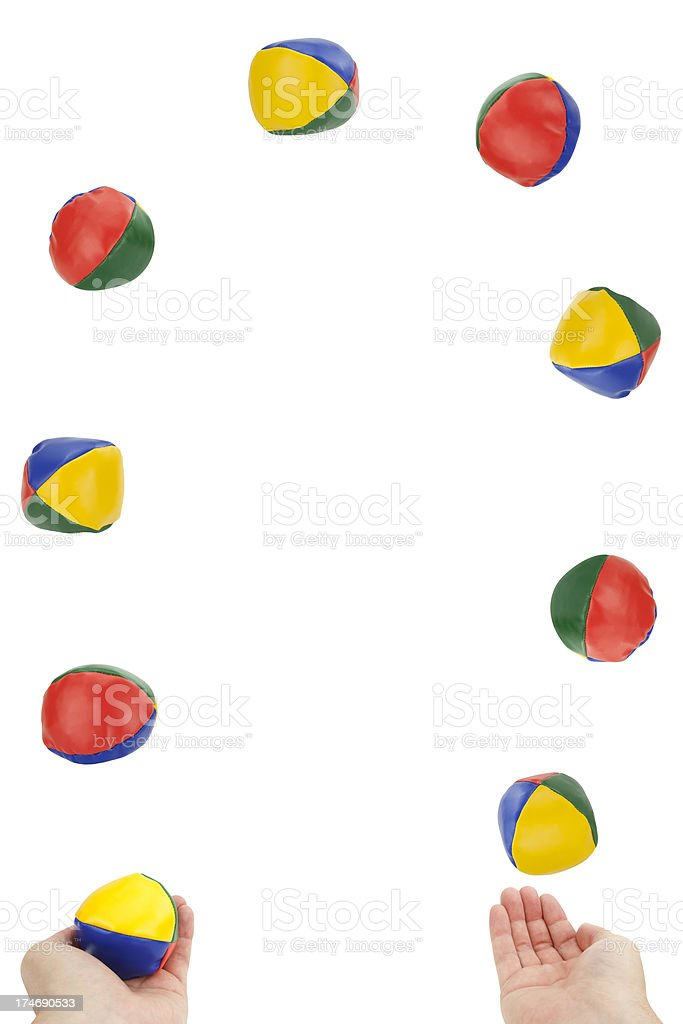 Juggling Overload stock photo