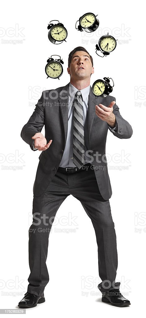Juggling Time royalty-free stock photo