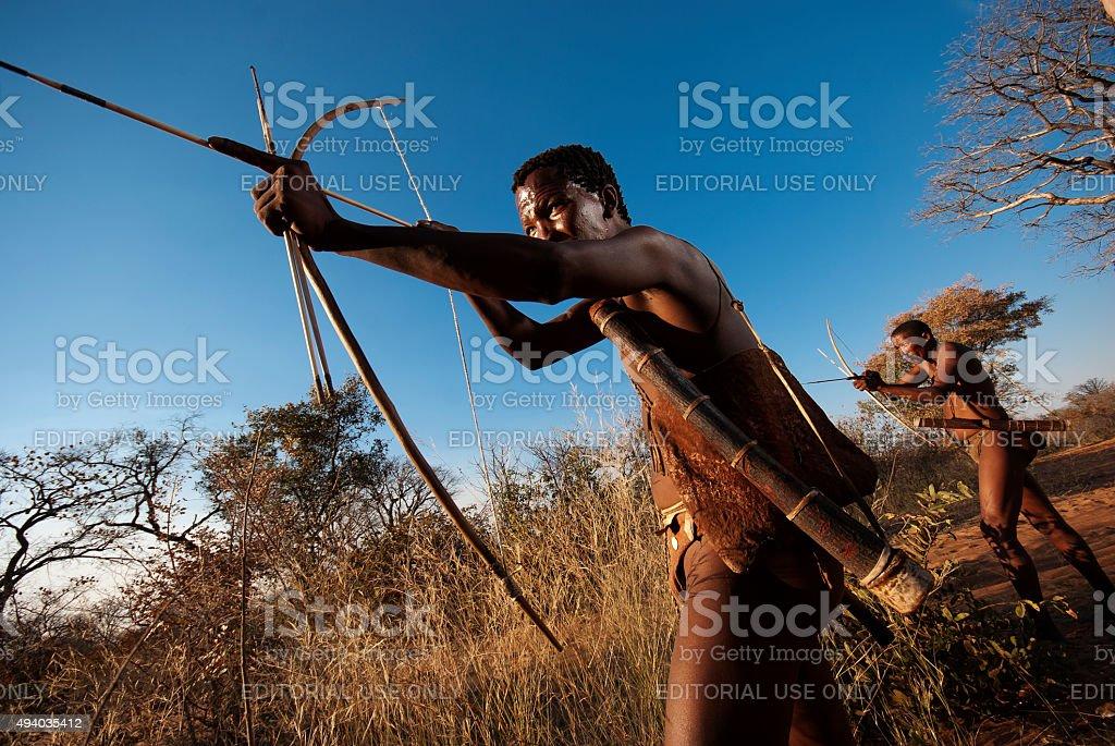Ju/'Hoansi-San  bushman at Grashoek, Namibia stock photo