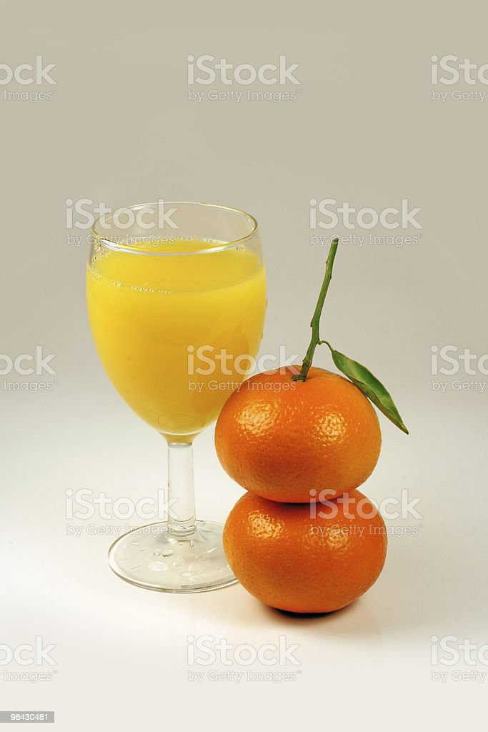 juice and mandarin fruits royalty-free stock photo