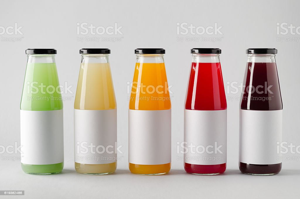 Download Juice Bottle Mockup Multiple Bottles Blank Label Stock ...