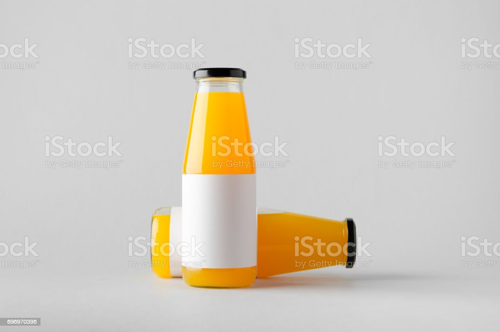 juice bottle mockup two bottles blank label stock photo more