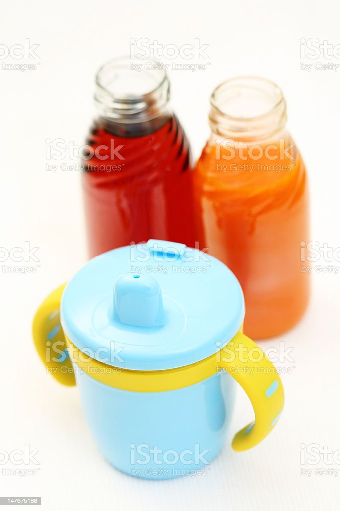 juice for baby stock photo