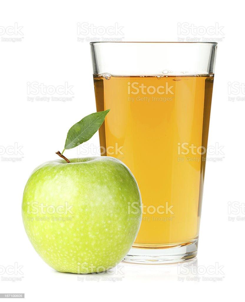 Saft in ein Glas und green apple – Foto