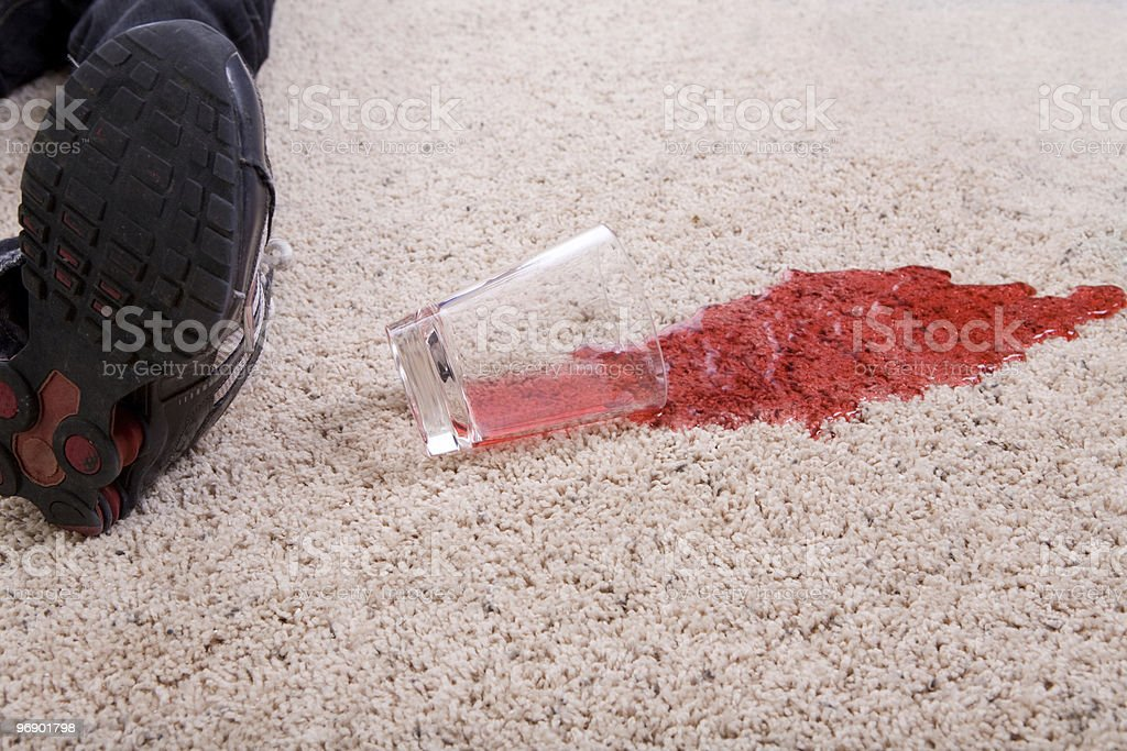 Juice Spilled on Carpeting stock photo