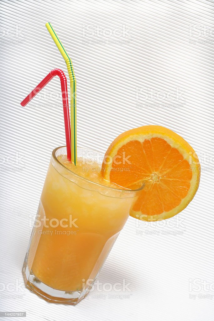 juice with drinking straws royalty-free stock photo