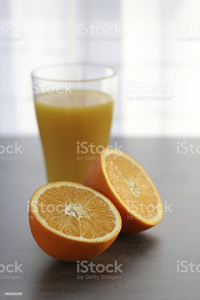 Juice with oranges stock photo