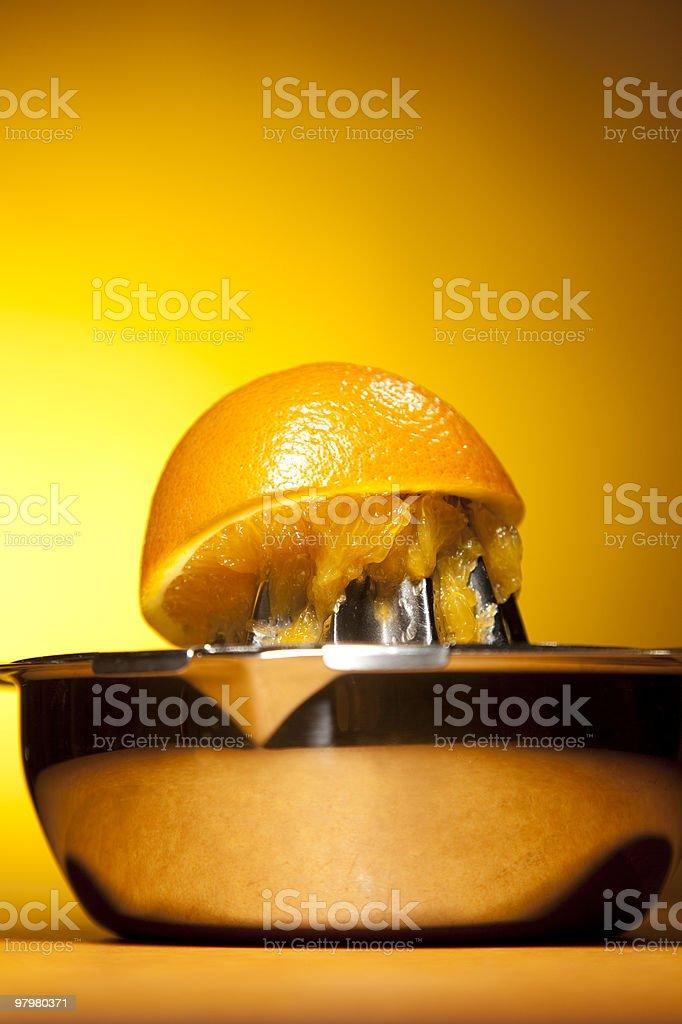 Juiced Orange royalty-free stock photo
