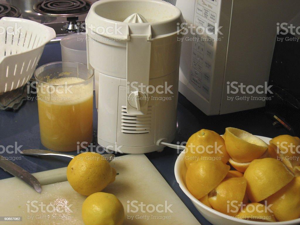 Juicing Lemons royalty-free stock photo
