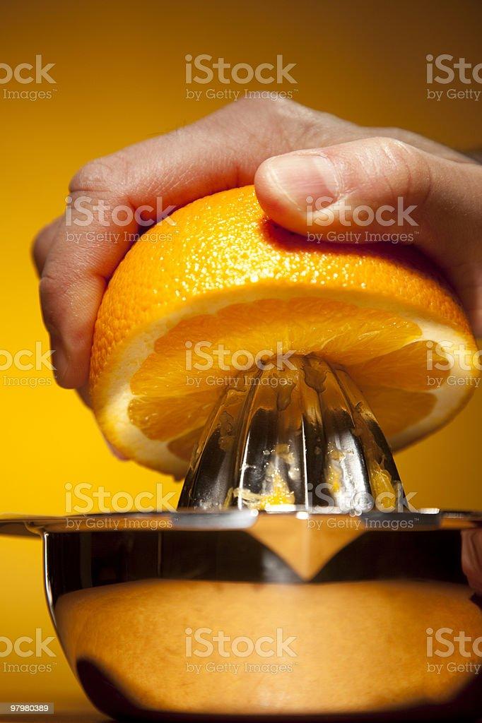 Juicing Orange royalty-free stock photo