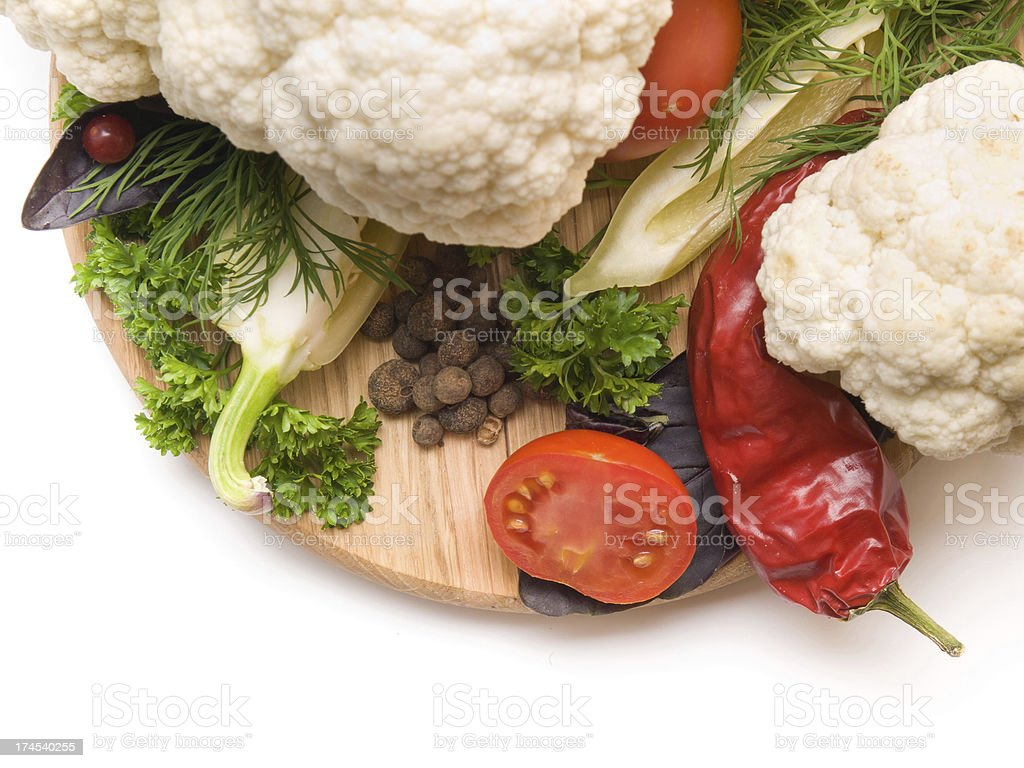 Juicy and fresh cut vegetables royalty-free stock photo