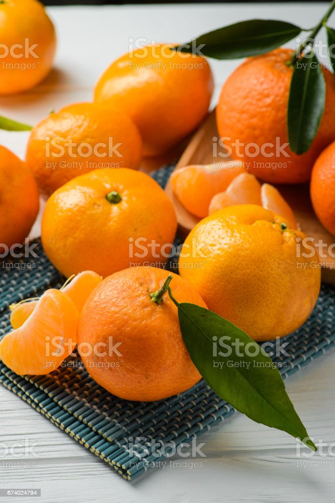 juicy and fresh tangerine royalty-free stock photo