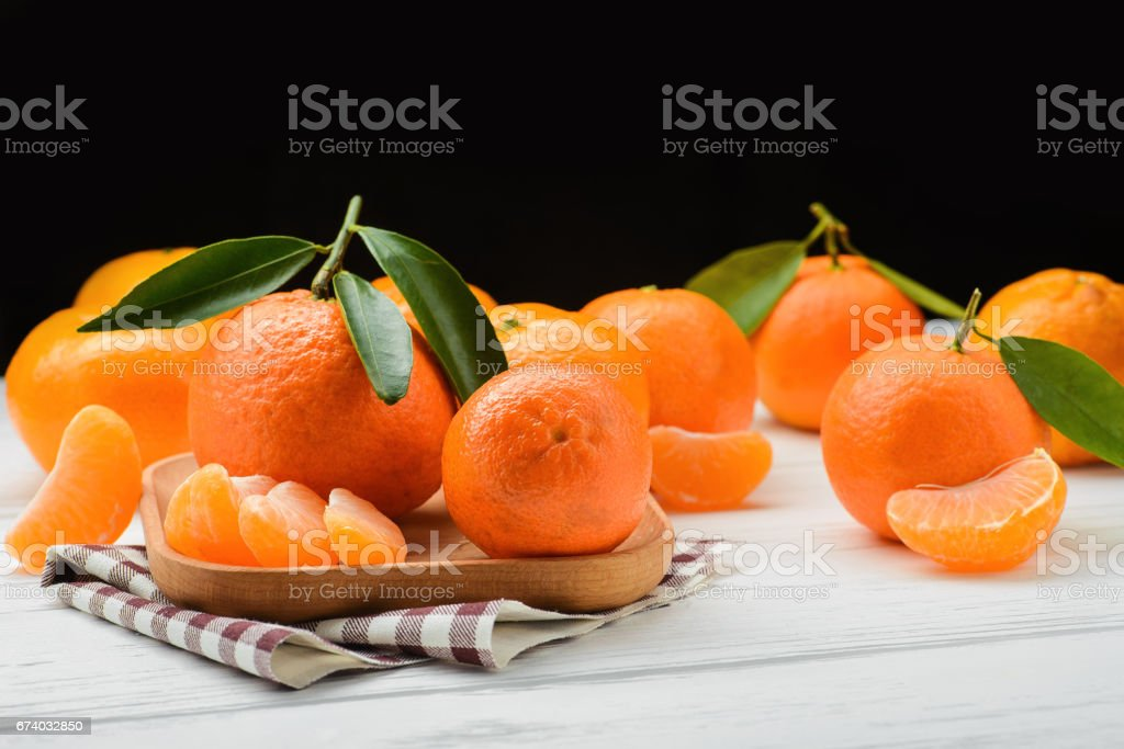 juicy and fresh tangerine royalty-free stock photo