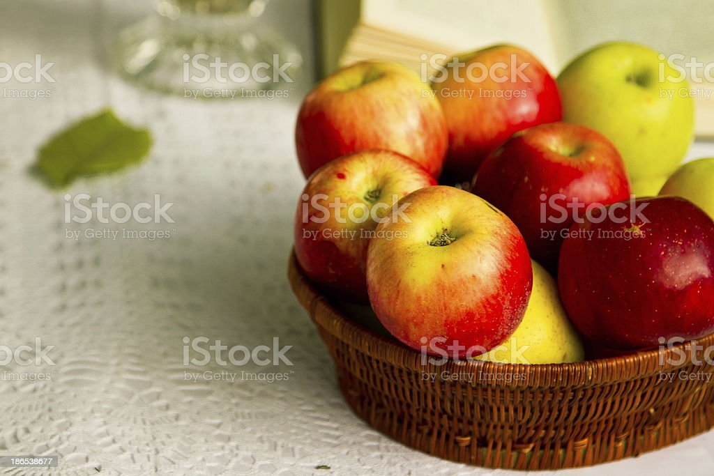 Juicy autumn apples royalty-free stock photo